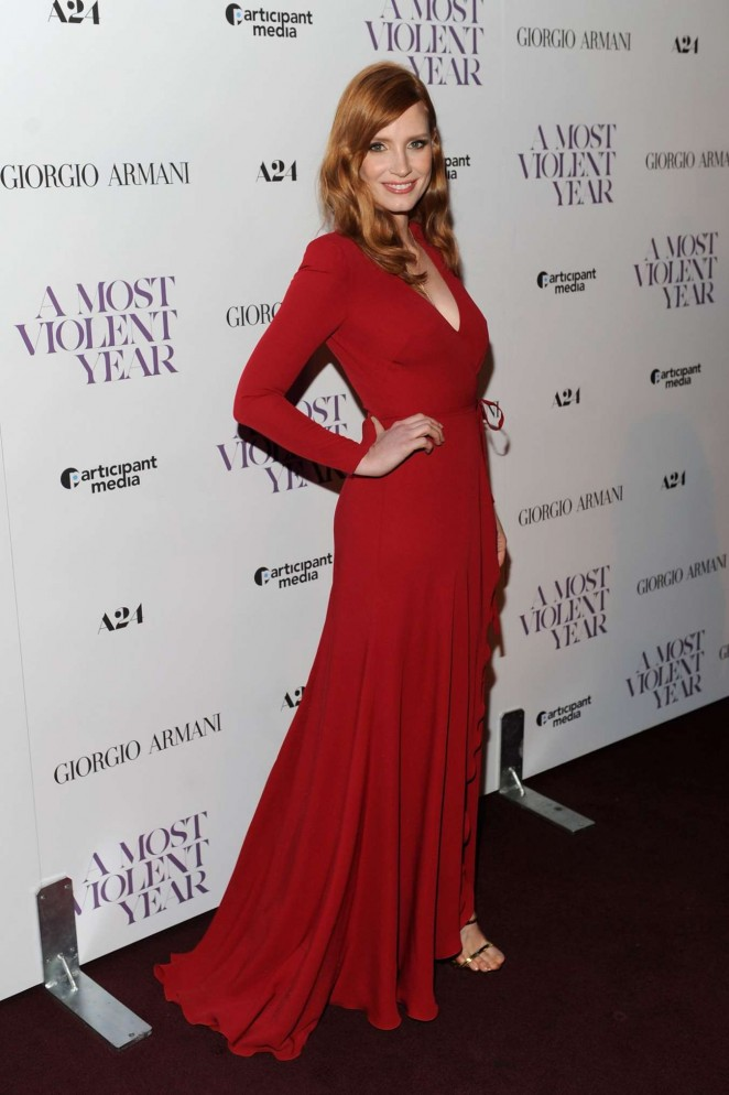"Jessica Chastain - ""A Most Violent Year"" Premiere in New York"