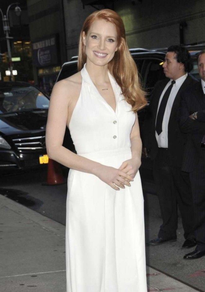 Jessica Chastain at the 'Late Show with David Letterman' in NYC