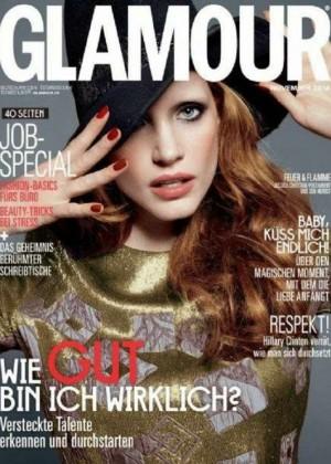 Jessica Chastain - Glamour Germany Magazine Cover (November 2014)