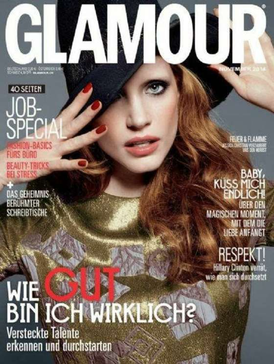 Jessica Chastain - Glamour Germany Magazine Cover (November 2014)