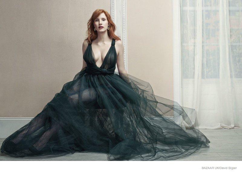 Jessica Chastain - Harper's Bazaar UK Magazine (November 2014)