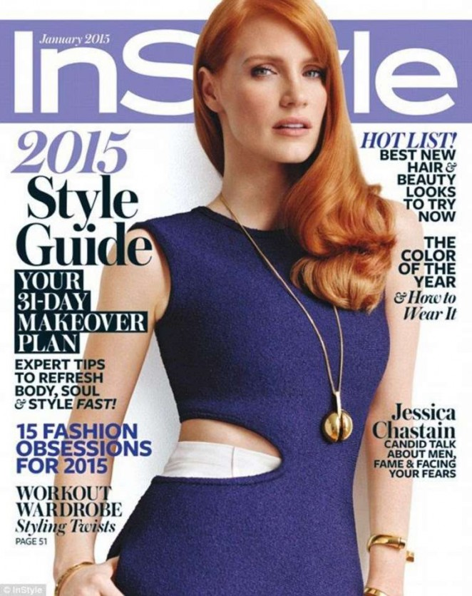 Jessica Chastain - InStyle USA Magazine Cover (January 2015)