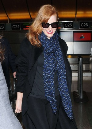 Jessica Chastain - LAX Airport in LA