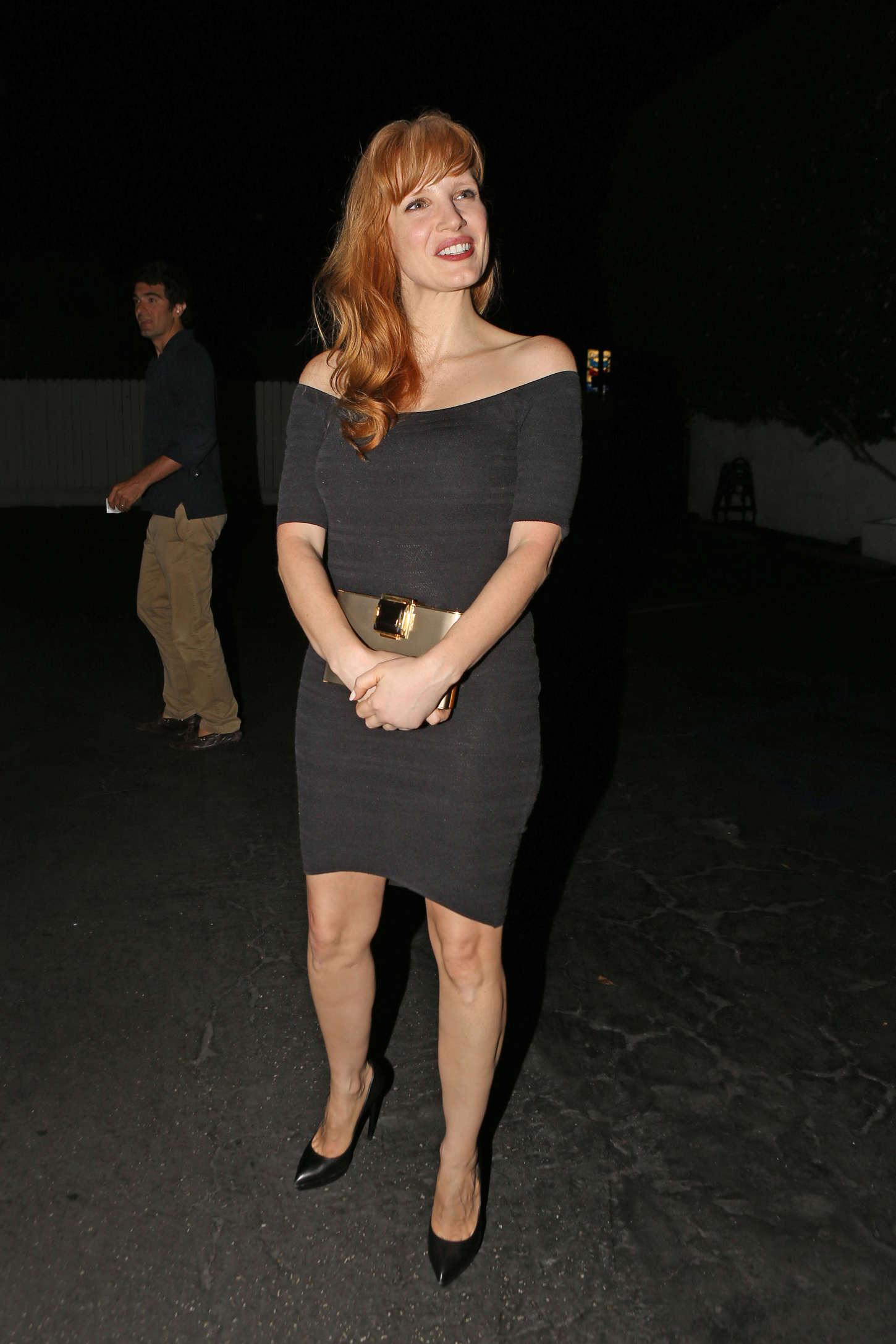 Jessica Chastain In Black Mini Dress 14 Gotceleb