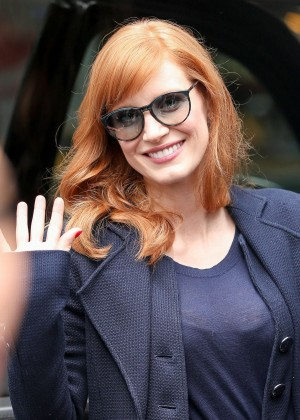 Jessica Chastain - Leaving the MTV Studios in NYC