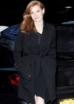 Jessica Chastain - out and about in Soho