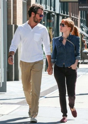 Jessica Chastain Out In NY