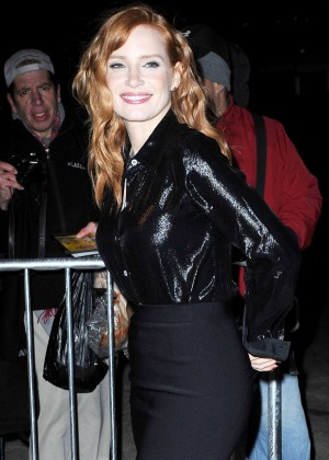 Jessica Chastain - Arrives at The Daily Show With Jon Stewart in NYC