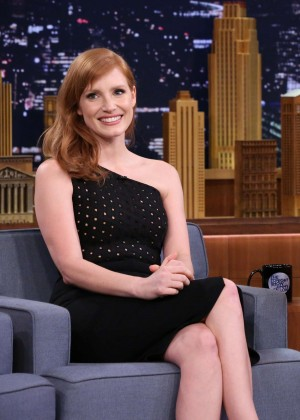 Jessica Chastain - The Tonight Show With Jimmy Fallon in NYC