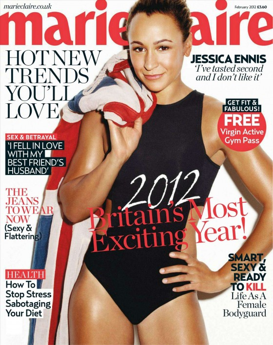 Jessica Ennis hot photoshoot for Marie Claire