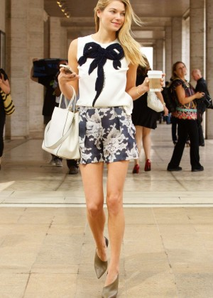 Jessica Hart at Mercedes-Benz Fashion Week 2014 in NYC