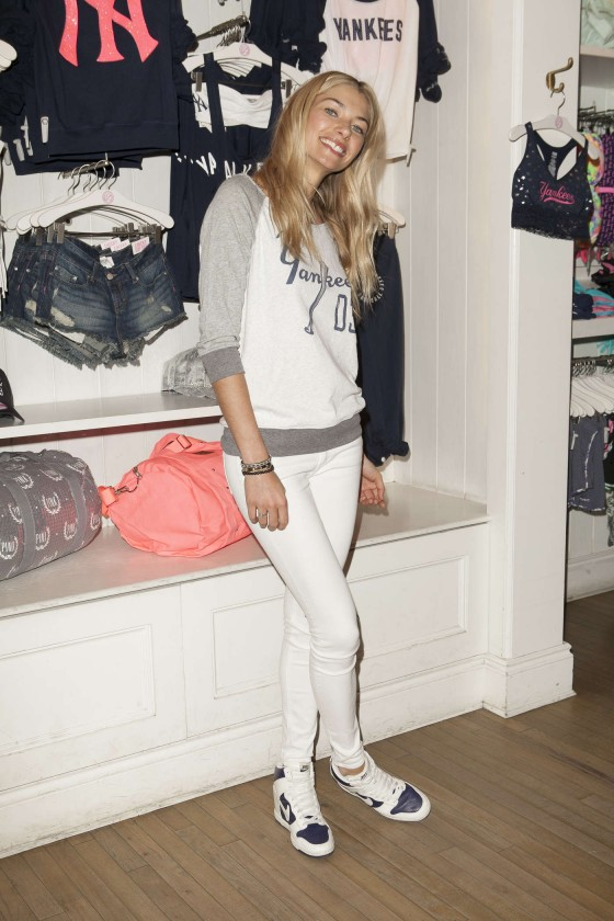 Jessica Hart at Victorias Secret MLB Collection -12