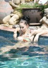 Jessica Jane Clement - wearing a bikini at a pool in Thailand-17