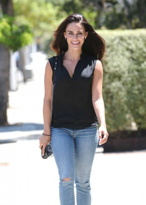 Jessica Lowndes - In skinny jeans, out and about in West Hollywood