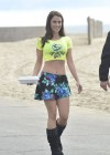 Jessica Lowndes - on the set of 90210 in Huntington Beach