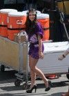 Jessica Lowndes - on the set of 90210 in Los Angeles