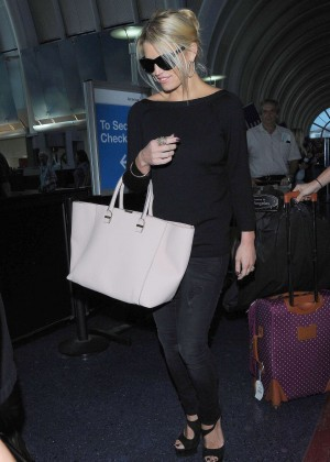 Jessica Simpson in Jeans at LAX Airport in Los Angeles