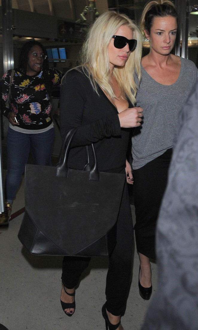 Jessica Simpson at LAX -19