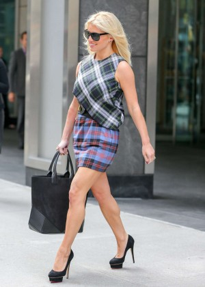 Jessica Simpson in Mini Skirt out in NY