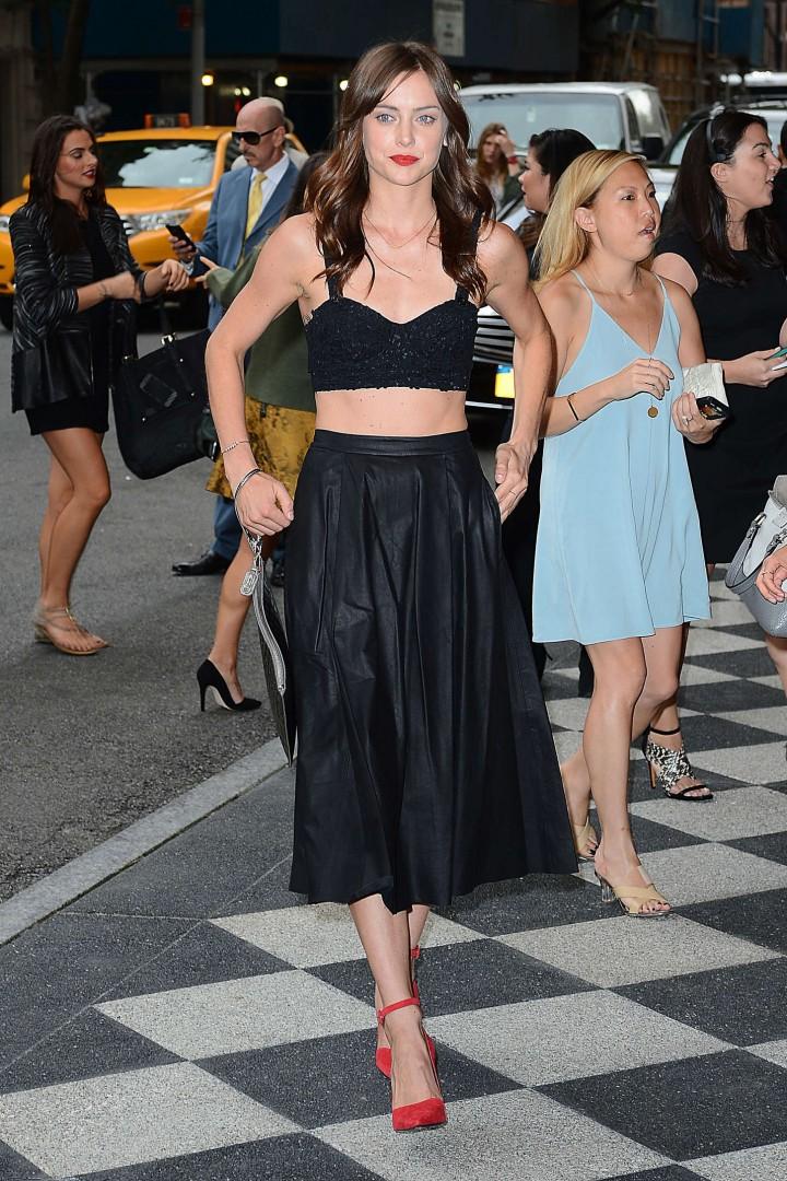 Jessica Stroup: Alice Olivia NY Fashion Show 2014 -05