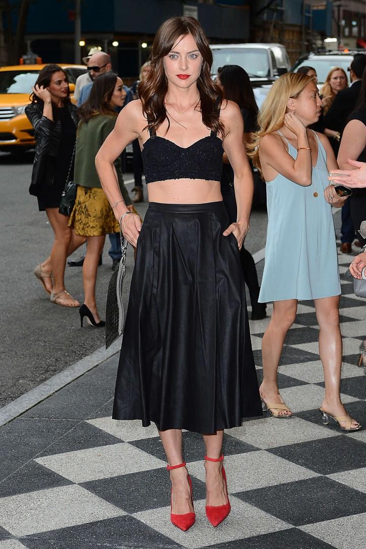 Jessica Stroup: Alice Olivia NY Fashion Show 2014 -09