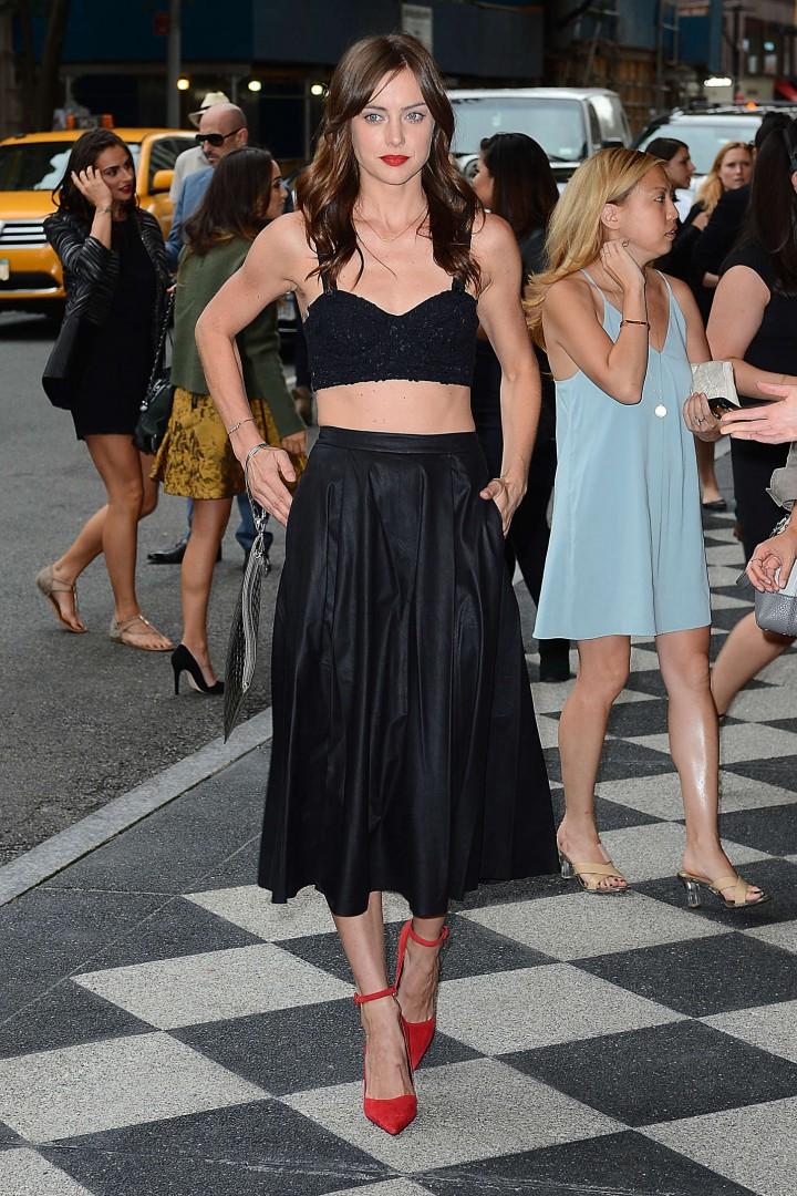 Jessica Stroup: Alice Olivia NY Fashion Show 2014 -10