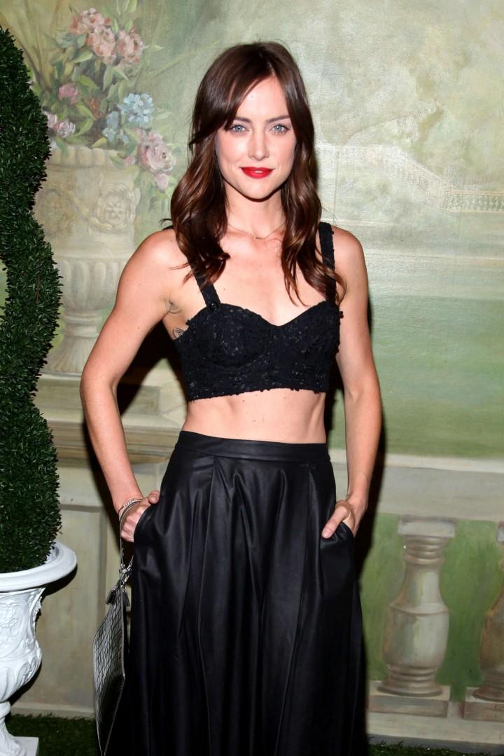 Jessica Stroup: Alice Olivia NY Fashion Show 2014 -15