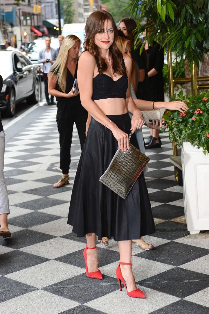 Jessica Stroup: Alice Olivia NY Fashion Show 2014 -18