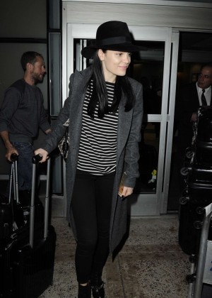 Jessie J at JFK Airport in New York City