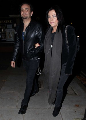 Jessie Wallace Night Out in London
