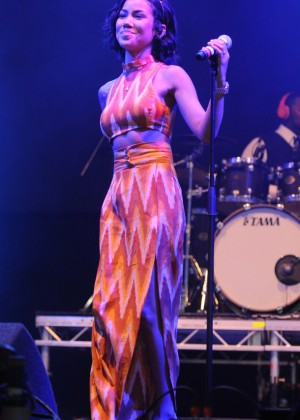 Jhene Aiko Performs Live at V Festival at Hylands Park