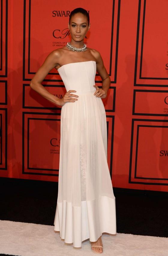 Joan smalls white dress