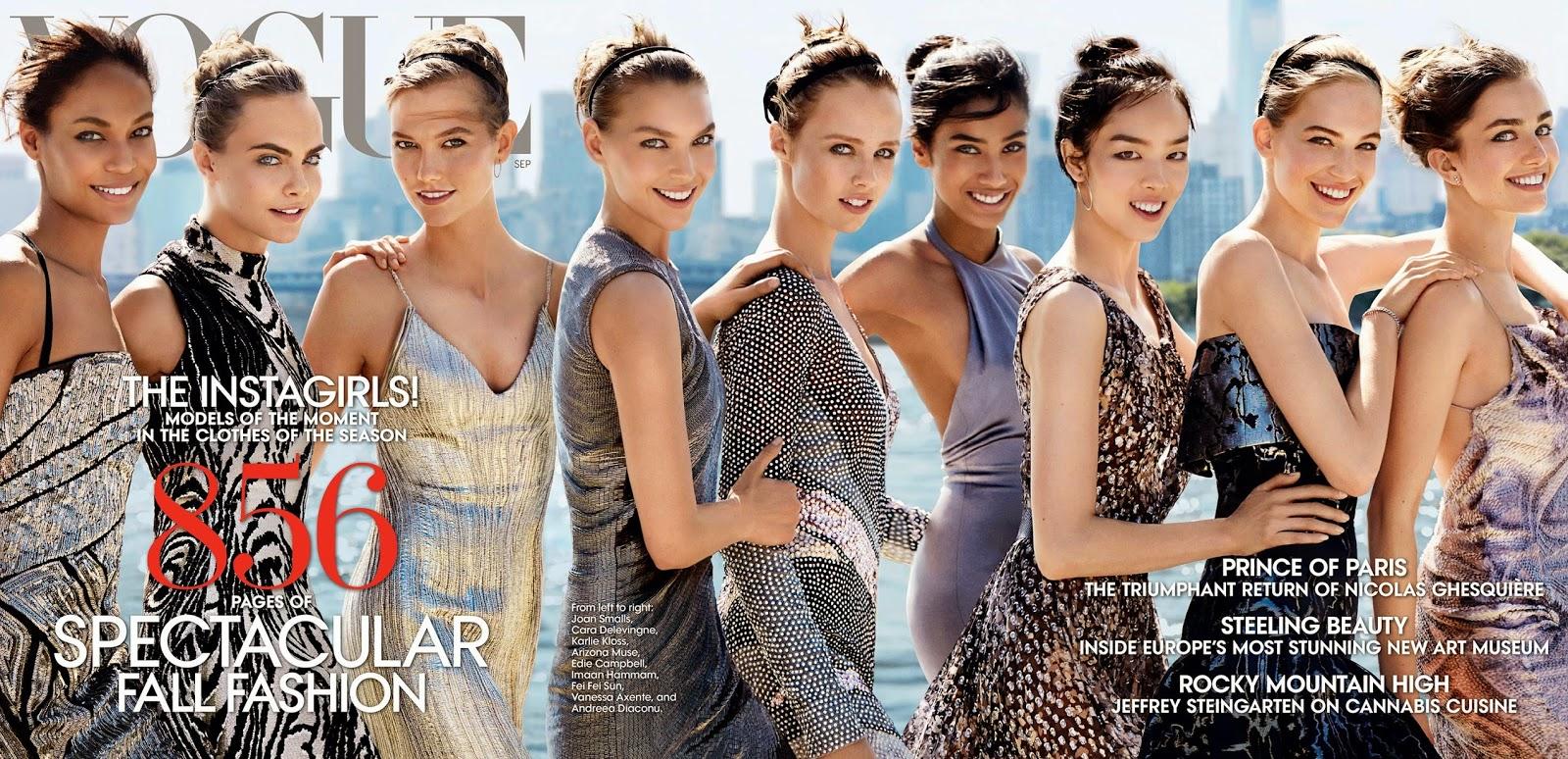 Cara Delevingne 2014 : Joan Smalls Cara Delevingne and Karlie Kloss: Vogue US 2014 -01