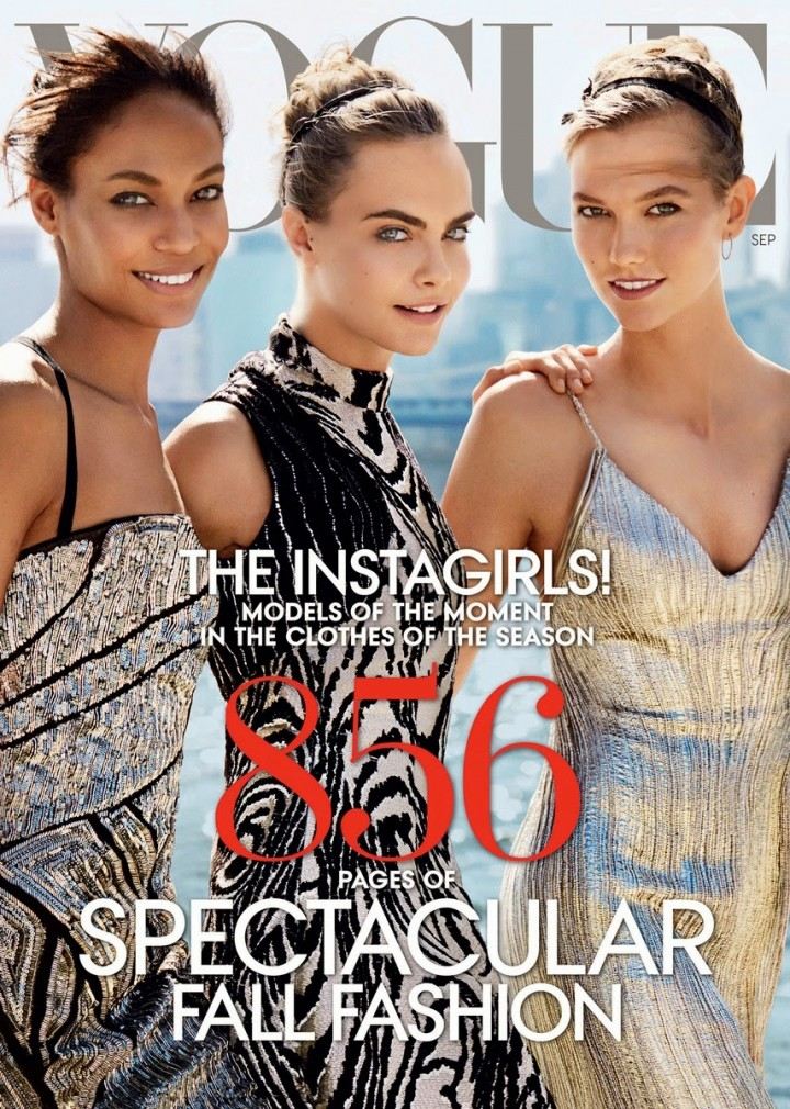 Joan Smalls, Cara Delevingne & Karlie Kloss - Vogue US Magazine (September 2014)