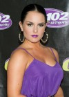 Joanna JoJo Levesque pretty in purple dress at Sexy Single Concert-09