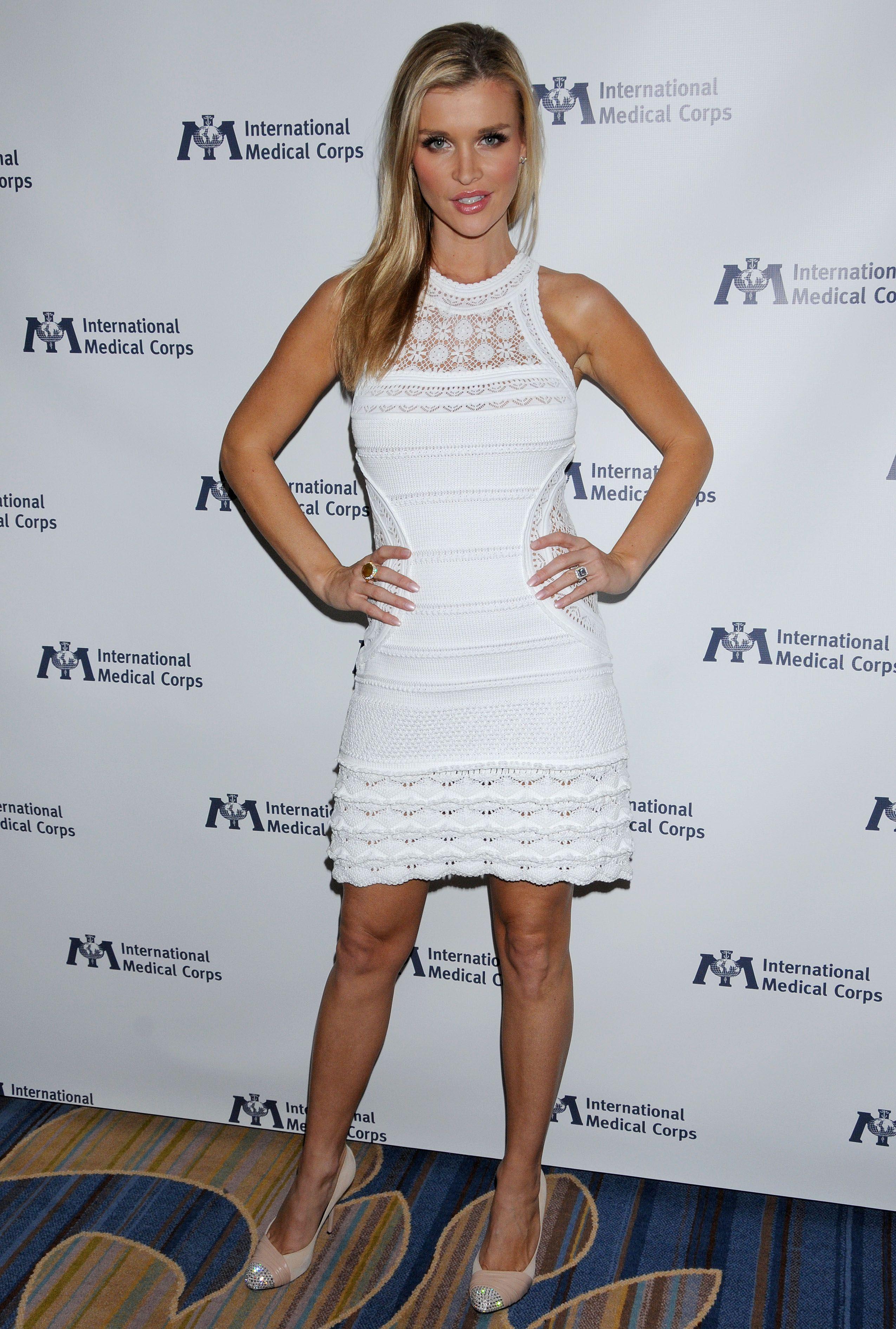 Joanna Krupa - White Dress Candids at International ...