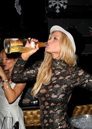 Joanna Krupa in Tight Dress at Mynt Club -21
