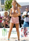 Joanna Krupa in a Bikini top at Beach Volleyball Tournament in Miami