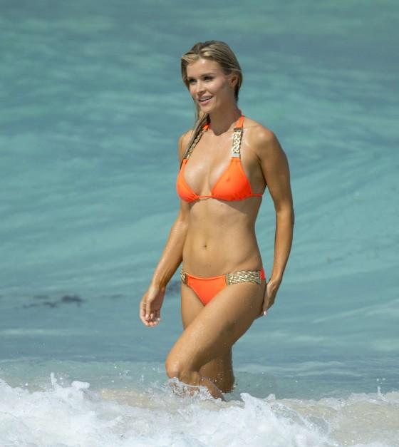 Joanna Krupa in a orange bikini in Miami-05