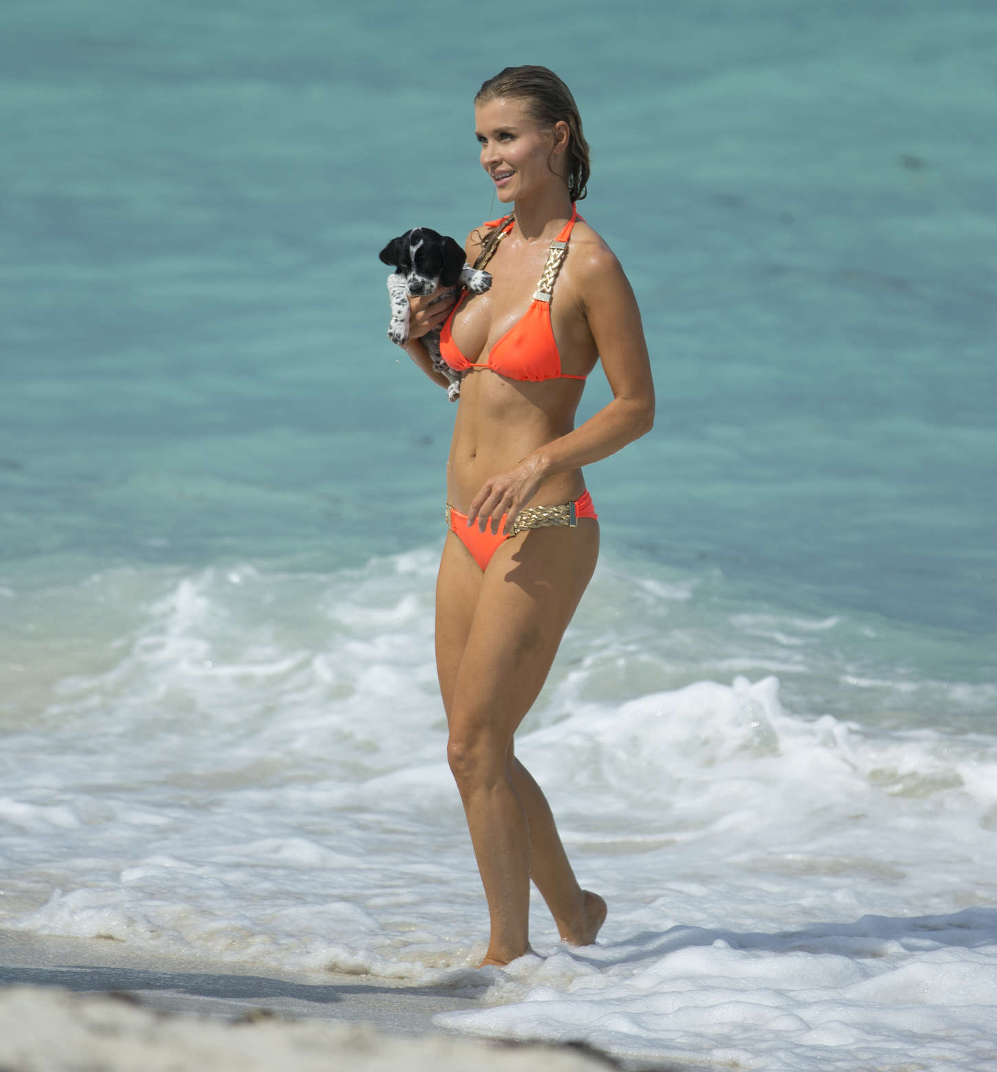 Joanna Krupa 2013 : Joanna Krupa in a orange bikini in Miami-11