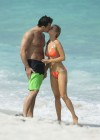 Joanna Krupa in a orange bikini in Miami-13
