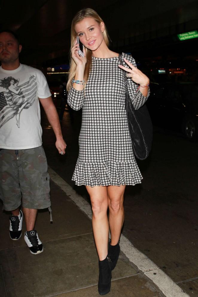 Joanna Krupa in Mini Dress at LAX airport in Los Angeles