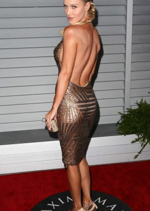 Joanna Krupa in gold dress -04