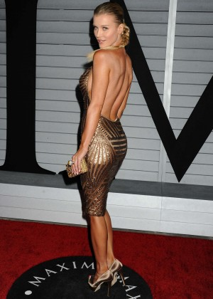 Joanna Krupa in gold dress -05