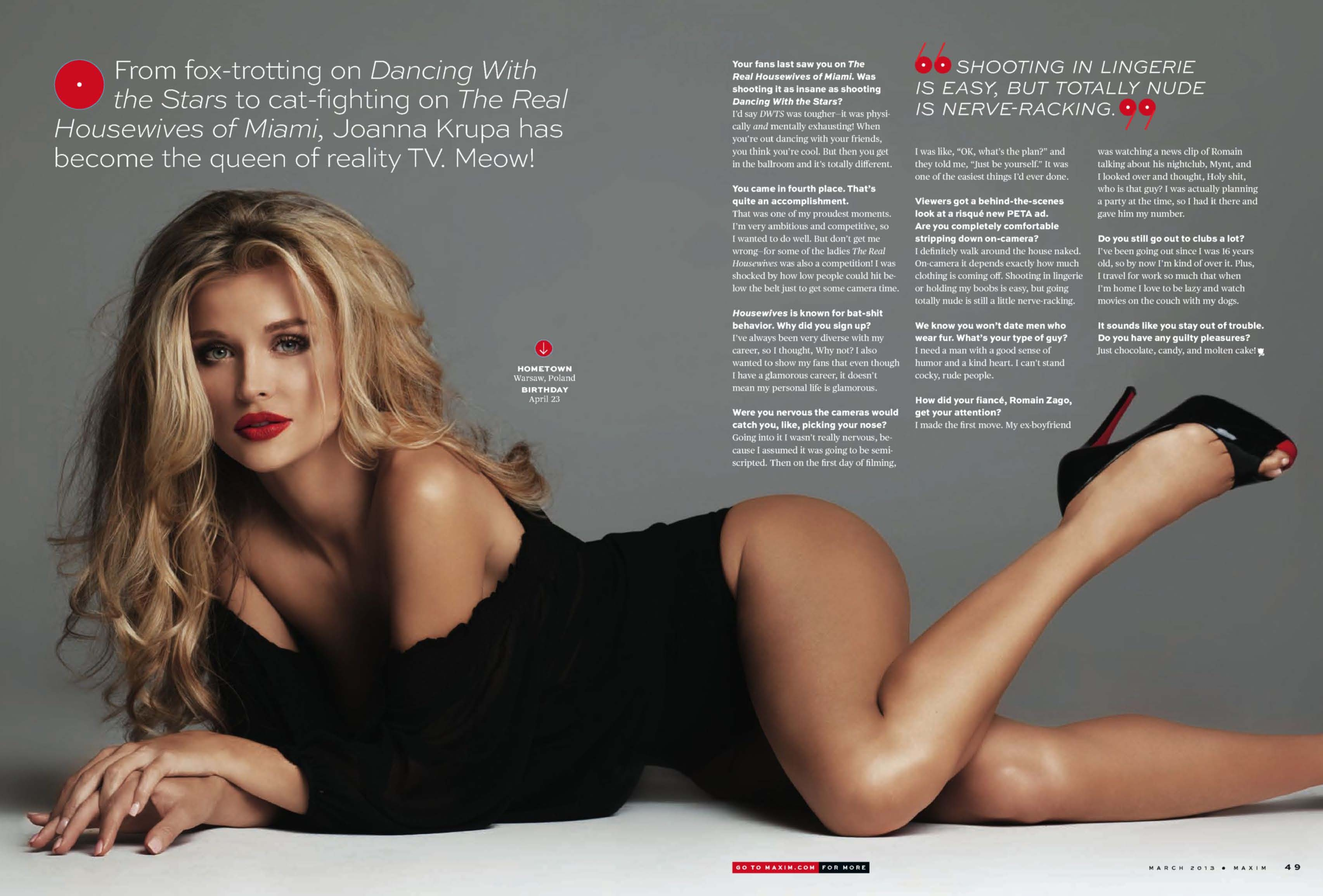 Joanna krupa maxim magazine think