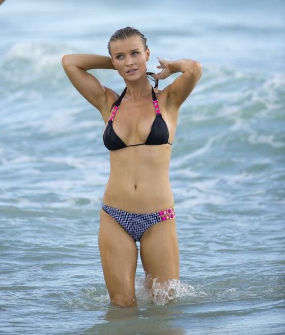 Joanna Krupa – wearing a bikini at a beach in Miami -04