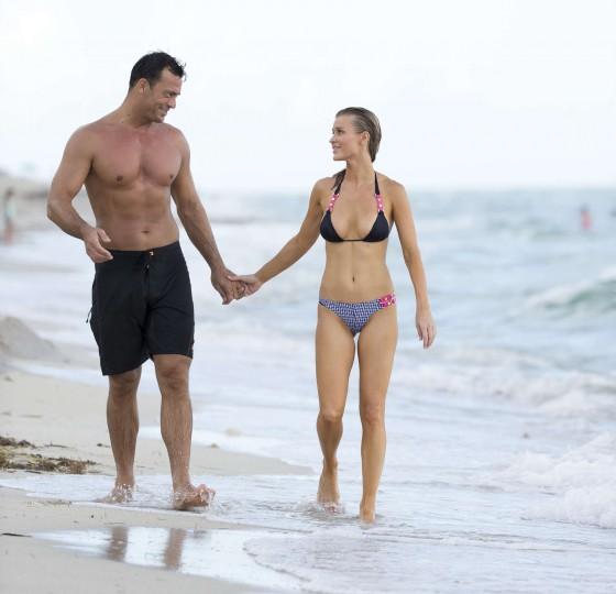 Joanna Krupa – wearing a bikini at a beach in Miami -06