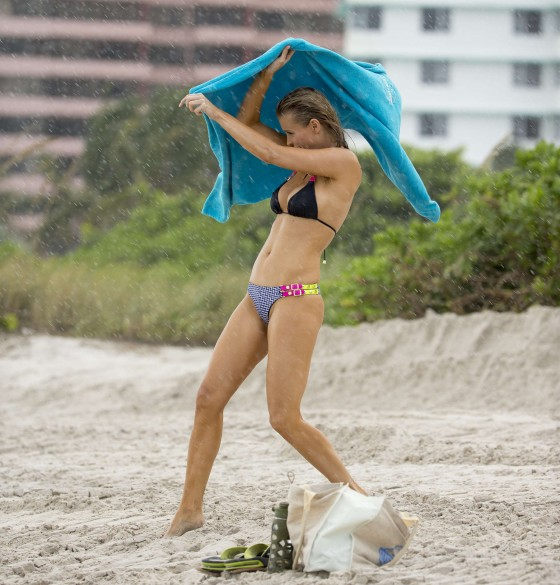 Joanna Krupa – wearing a bikini at a beach in Miami -14