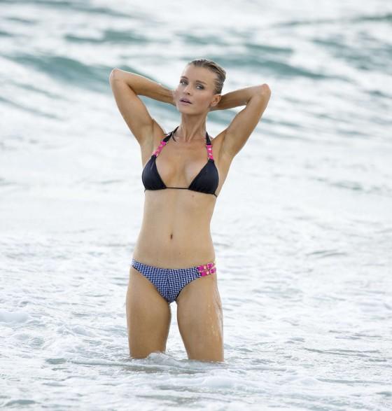 Joanna Krupa – wearing a bikini at a beach in Miami -19
