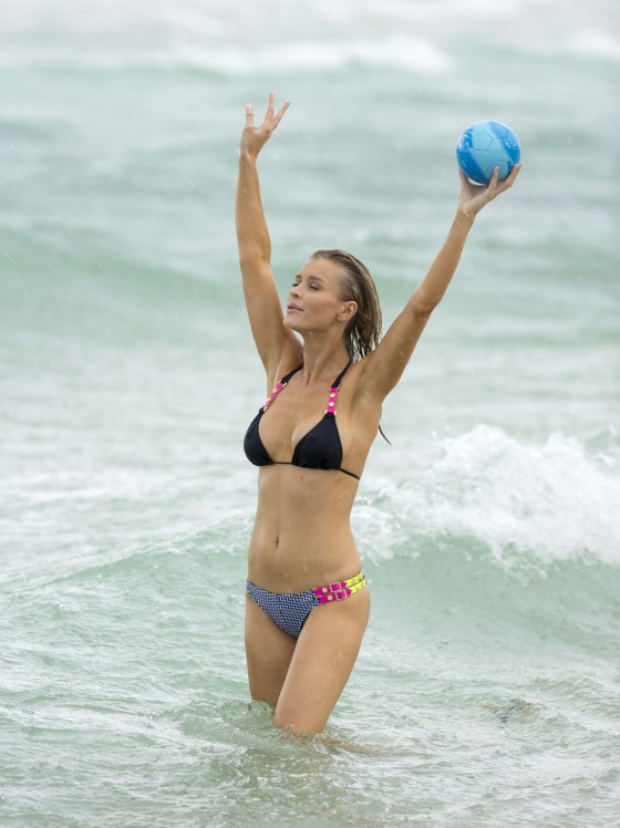 Joanna Krupa - wearing a bikini at a beach in Miami -22